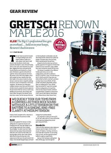 Rhythm Gretsch Renown Maple Drum Kit