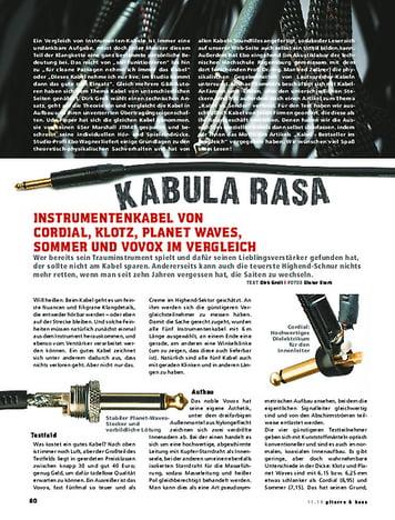 Gitarre & Bass Kabula Rasa - der Vergleichstest!