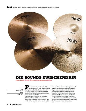 Sticks Paiste F602 Modern Essentials & Masters Dark Crash Cymbals