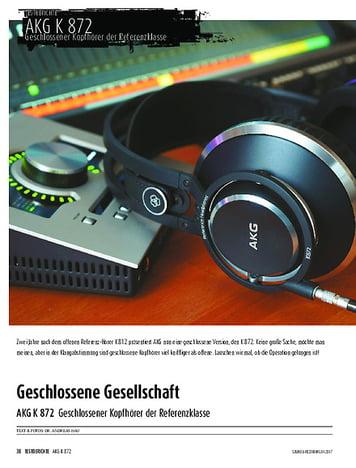 Sound & Recording AKG K 872 - Geschlossener Kopfhörer der Referenzklasse