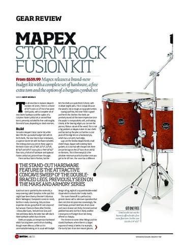 Rhythm Mapex Storm Rock Fusion Kit