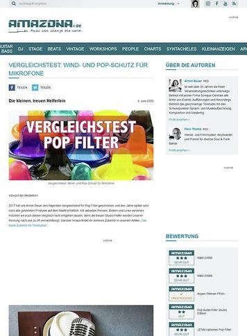 Amazona.de Vergleichstest: Pop Filter