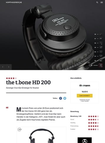 Kopfhoerer.de the t.bone HD 200