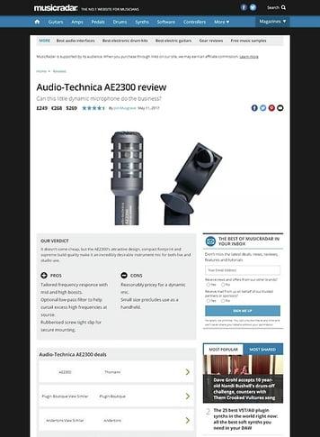MusicRadar.com Audio Technica AE2300