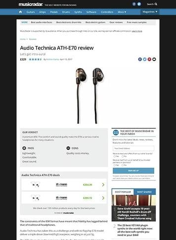 MusicRadar.com Audio Technica ATH-E70