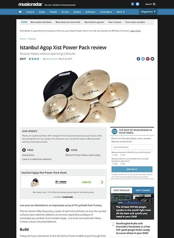 MusicRadar.com Istanbul Agop Xist Power Pack