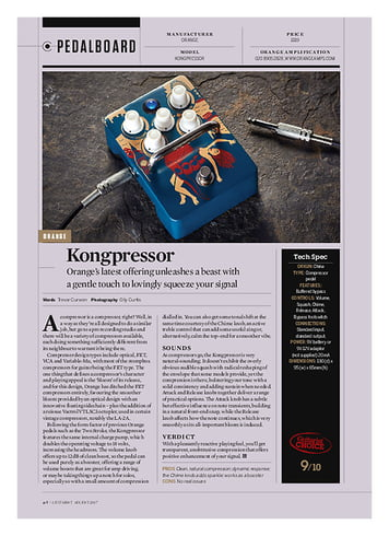 Guitarist Orange Kongpressor