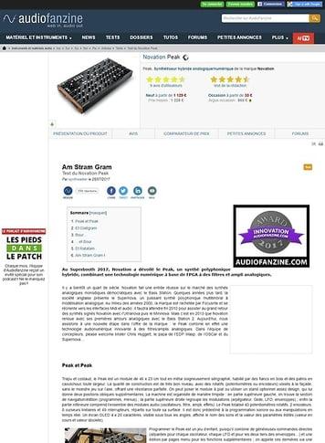 Audiofanzine.com Novation Peak