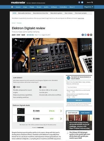 MusicRadar.com Elektron Digitakt