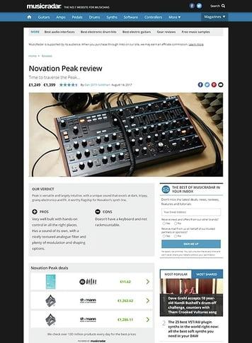 MusicRadar.com Novation Peak