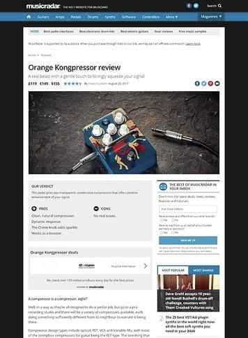 MusicRadar.com Orange Kongpressor