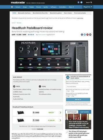 MusicRadar.com HeadRush Pedalboard