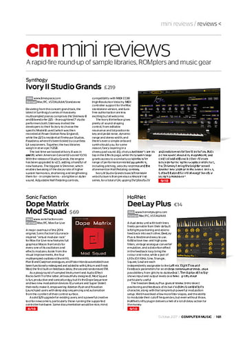 Computer Music Synthogy Ivory II Studio Grands