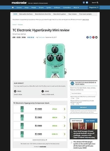 MusicRadar.com TC Electronic HyperGravity Mini