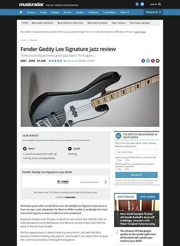 MusicRadar.com Fender Geddy Lee Signature Jazz