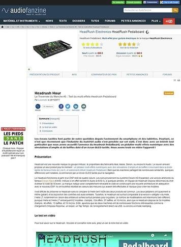 Audiofanzine.com HeadRush Pedalboard