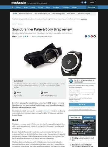 MusicRadar.com Soundbrenner Pulse & Body Strap