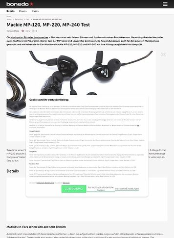 Bonedo.de Mackie MP-120, MP-220, MP-240