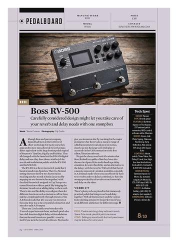 Guitarist Boss RV-500