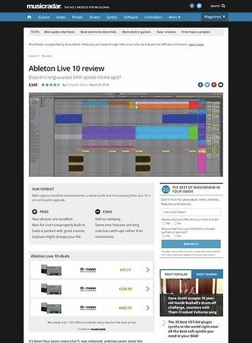 MusicRadar.com Ableton Live 10