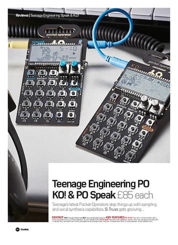 Future Music Teenage Engineering Po KO! And PO Speak