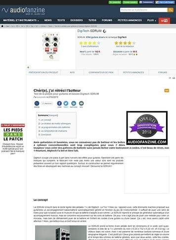 Audiofanzine.com DigiTech SDRUM