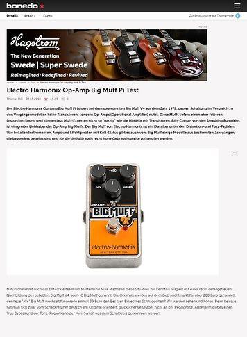 Bonedo.de Electro Harmonix Op-Amp Big Muff Pi