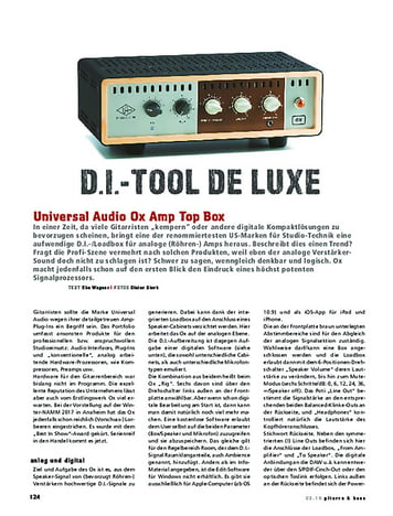 Gitarre & Bass Universal Audio Ox Amp Top Box