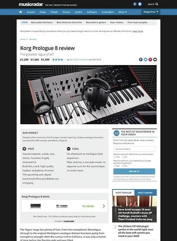 MusicRadar.com Korg Prologue 8