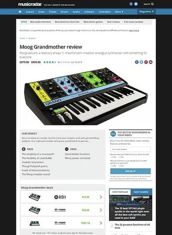 MusicRadar.com Moog Grandmother