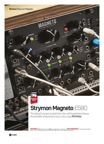 Future Music Strymon Magneto
