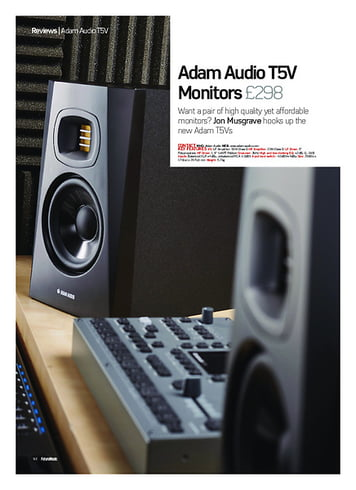 Future Music Adam Audio T5V Monitors