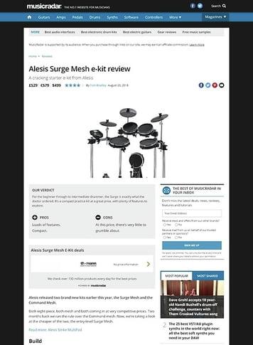 MusicRadar.com Alesis Surge Mesh e-kit