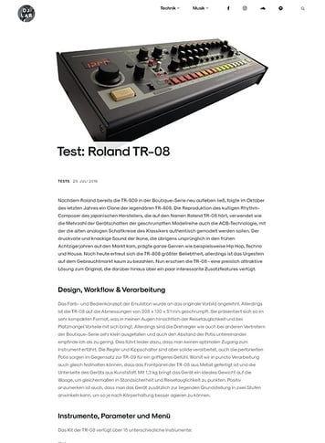 DJLAB Roland TR-08