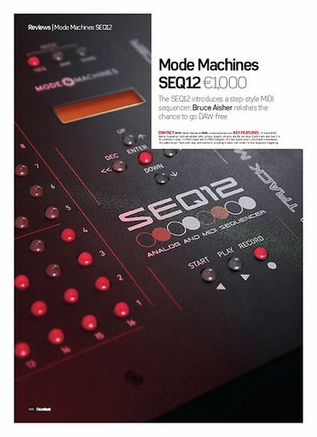 Future Music Mode Machines SEQ12