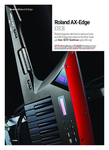 Future Music Roland AX-Edge
