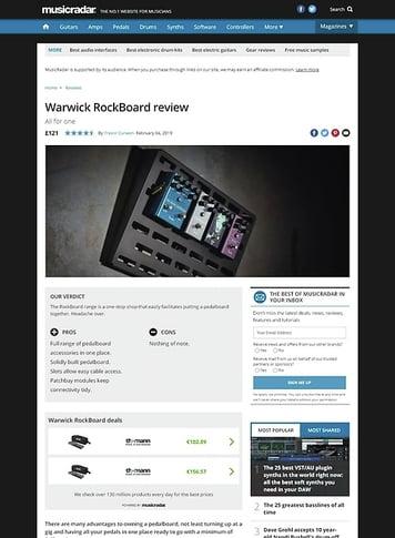 MusicRadar.com Warwick RockBoard