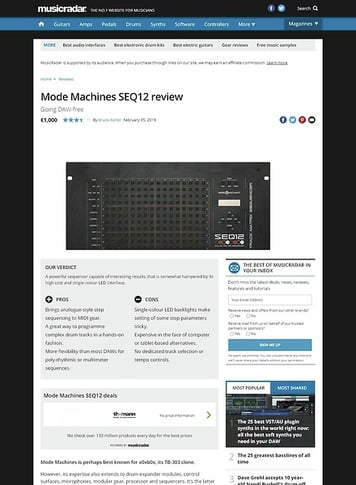 MusicRadar.com Mode Machines SEQ12