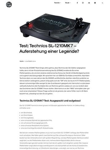 DJLAB Technics SL-1210 MK7