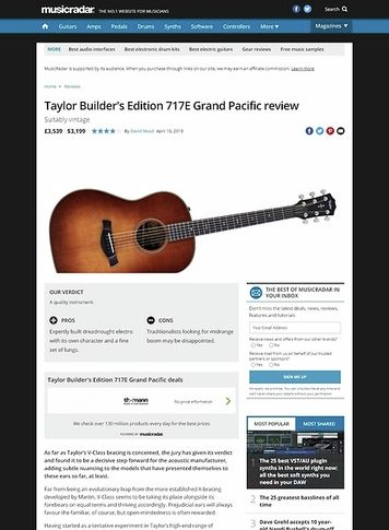 MusicRadar.com Taylor Builder's Edition 717E Grand Pacific
