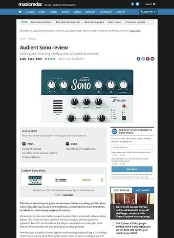 MusicRadar.com Audient Sono