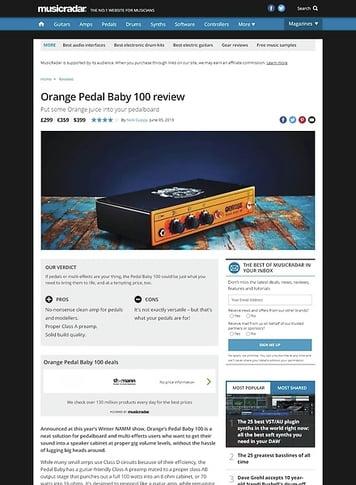 MusicRadar.com Orange Pedal Baby 100