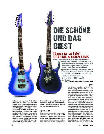 Gitarre & Bass Ibanez Axion Label RGA61AL & RGD71ALMS