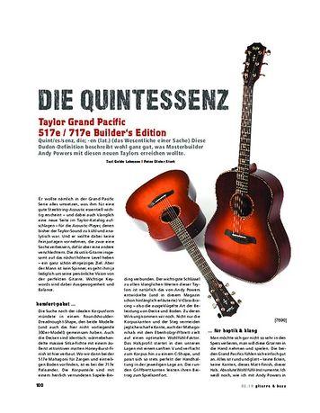 Gitarre & Bass Taylor Grand Pacific 517e & 717e Builder's Edition
