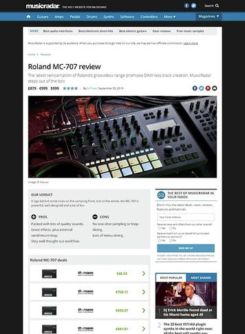 MusicRadar.com Roland MC-707