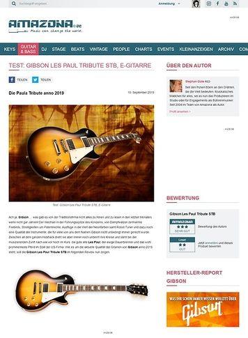 Amazona.de Gibson Les Paul Tribute STB