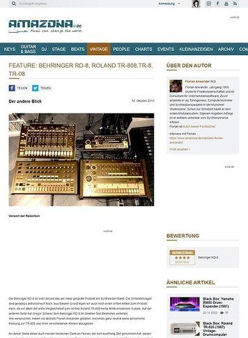Amazona.de Vergleichstest: Behringer RD-8, Roland TR-808, TR-8 und TR-08