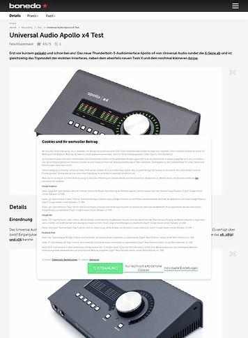 Bonedo.de Universal Audio Apollo X4