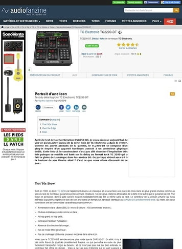 Audiofanzine.com TC Electronic TC2290-DT