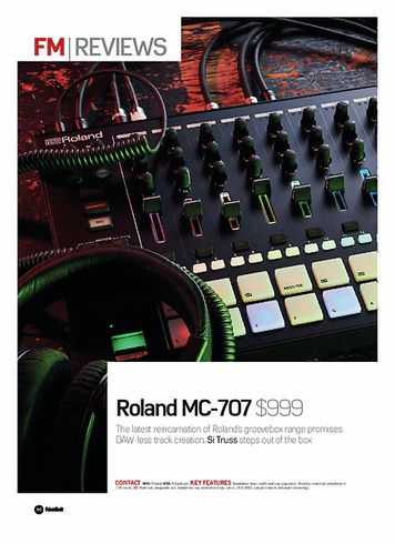 Future Music Roland MC-707